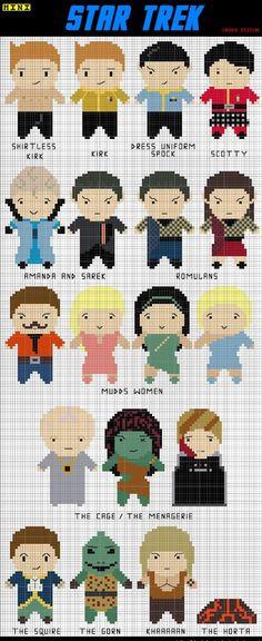 Star Trek Cross Stitch Patteren