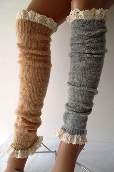 SOCKS -  Leg Warmers Boot Socks Winter Socks Autumn Socks by melissa.alate