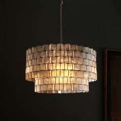 $399 option for dining or master bedroom or entry Dining or entry Capiz Zigzag Chandelier