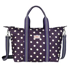 Button Spot Foldaway Overnight Bag | Cath Kidston - been umming aand ahhing about one of these for years!!! These spots could seal the deal!!!