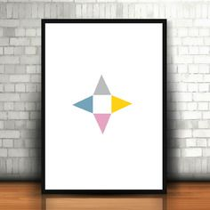 """Affiche """"scandinave"""" triangle"""