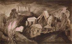 Γεώργιος Κόρδης :Αθήνα, Inks on Lokta paper, 55x75 cm, 2008