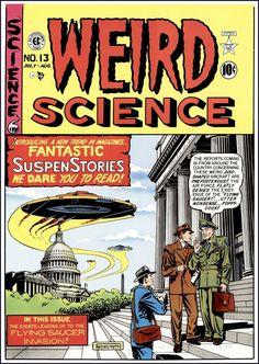 Weird Science (comics) - Wikipedia, the free encyclopedia Sci Fi Comics, Fantasy Comics, Horror Comics, Horror Books, Fiction Novels, Pulp Fiction, Comic Book Covers, Comic Books Art, Book Art