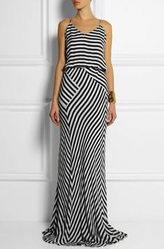 Mason by Michelle Mason dress - stripes on redsoledmomma.com