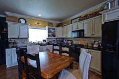 Separate kitchen/dining.