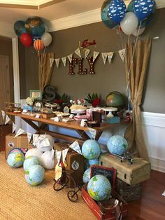 Vintage Airplanes/Word travel Birthday Party Ideas | Photo 2 of 63 | Catch My Party