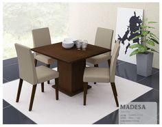 Que tal um conjunto de sala de jantar que complementa ainda mais a #decoração com o #designmoderno! #Prod147667