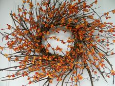 Fall Wreath Autumn wreath Primitive Fall by CountrysideFlorals, $65.00