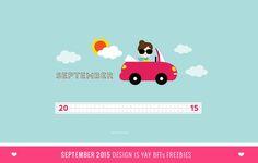 BFF FREEBIES: September 2015 Wallpaper Calendar