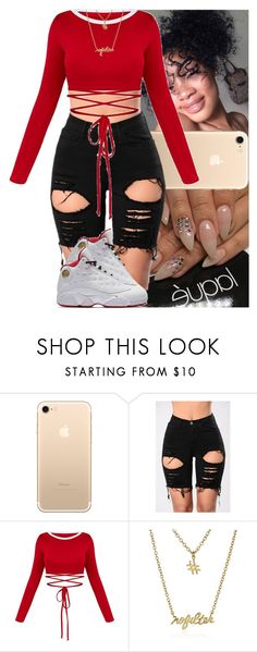 """Untitled #1138"" by msixo ❤ liked on Polyvore featuring NIKE and Gorjana"