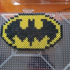 Batman logo perler beads by Yahoska Urbina