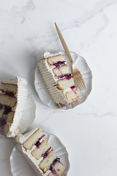marzipan cake with gin blueberries and brown butter swiss meringue buttercream