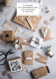 DIY Archives - Page 2 sur 2 - la mariee aux pieds nus Soap Packaging, Jewelry Packaging, Creative Gift Wrapping, Creative Gifts, Diy Cadeau, Photo Packages, Photography Packaging, Christmas Gift Wrapping, Wedding Book