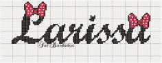Artes e bordados da Sol: Nomes que fiz com a Letra L