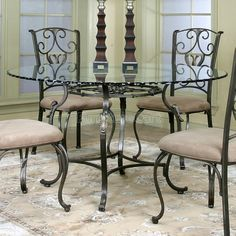 kitchen dining sets glass | glass dinette set comes complete with