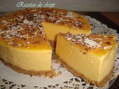 Receta de Tarta de flan, Trocear las galletas y triturarlas con la picadora hasta hacerlas polvo, derretir la mantequilla y mezclar con las galletas.