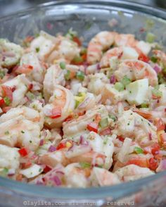 Simple Shrimp Salad Recipes is One Of Liked Salad Recipes Of Several People Across the World. Besides Easy to Create and Great Taste, This Simple Shrimp Salad Recipes Also Health Indeed. Avocado Recipes, Fish Recipes, Seafood Recipes, Cooking Recipes, Healthy Recipes, Cold Shrimp Salad Recipes, Simple Shrimp Recipes, Cooked Carrots, Seafood Salad