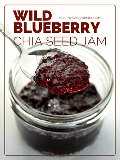 Wild Blueberry Chia Seed Jam | healthylivinghowto.com
