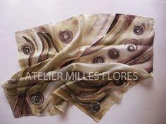 Hodvábna šatka, Hand painted silk Painted Silk, Hand Painted, Silk Painting, Alexander Mcqueen Scarf