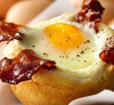 Bacon and Egg Savory Cupcakes - delicious layers of goodness