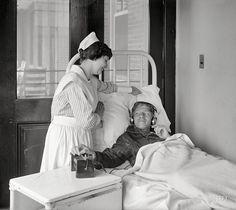 "Washington, D.C., circa 1924. ""Radio at Garfield Hospital."""