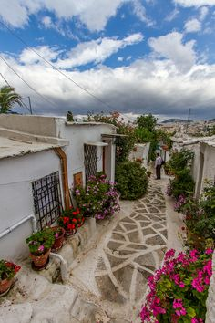 Strolling in Anafiotika, Athens, Greece Attica Greece, Athens Greece, Acropolis Greece, Vacation Places, Places To Travel, Places To See, Santorini, Wonderful Places, Beautiful Places