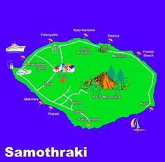 Samothraki tourist map