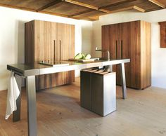 Bulthaup Kitchens: B2, Garmisch - closed. Freestanding kitchen units, perfect for inserting into historic buildings. http://www.en.bulthaup.com