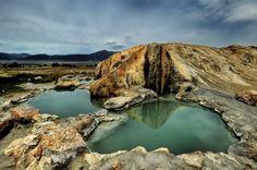 Travertine Hot Springs, near the Sierra Nevada mountains, Bridgeport, California