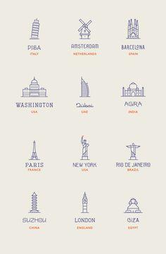 World Landmarks | Makers Co.