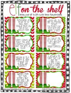 FREE Elf on The Shelf Printable Notes #FREE #ElfontheShelf #ElfontheShelfIdeas