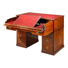 18th Century Architect's Desk by Gillows of Lancaster Regency Furniture, Georgian Furniture, Antique Furniture For Sale, Antique Desk, Vintage Furniture, Lancaster, Furniture Styles, Furniture Design, Architect Table
