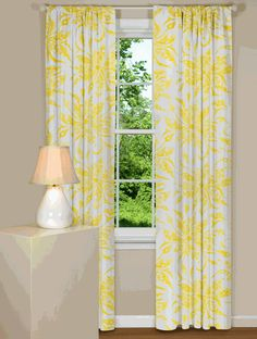 Superb Yellow Flower Curtains   This Site Has Tons Of Adorable Curtains