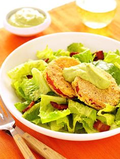 The popular summertime sandwich also makes a delicious salad. An avocado, buttermilk, and lime juice dressing adds a finishing touch to this recipe.