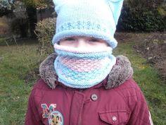 Un snood tricoté au point d'étoile pour Théa - La Grenouille Tricote Le Point, Winter Hats, Crochet Hats, Fashion, Dots, Patterns, Children, Knitting Hats, Moda