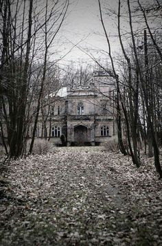 Eerie,  abandoned mansion.