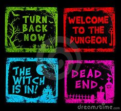 halloween signs | Colorful Halloween Signs Stock Photography - Image: 16109102