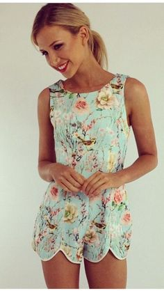 Floral romper. I need this