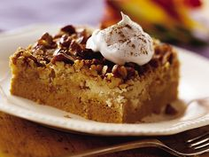 Praline Pumpkin Dessert recipe from Betty Crocker