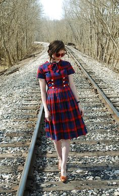 lovely plaid vintage dress