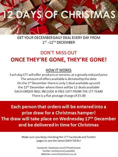 Fantastic bargains in our December Daily Deals giveaway Check out each day for bargain offers and FREE prize draw