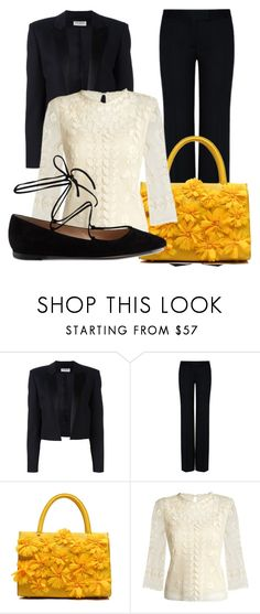 """""""Floral office"""" by crii-1 on Polyvore featuring Yves Saint Laurent, STELLA McCARTNEY, RED Valentino and Gianvito Rossi"""