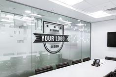 Office Board Room Online Logo Mockup - Mediamodifier - Online mockups generator