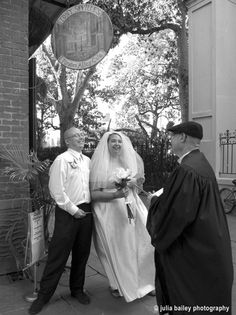 The wedding ghost in Pirates Alley.