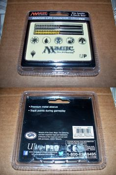 Ultra Pro Magic MTG Official Card-Size WHITE Abacus Life Counter BRAND NEW!