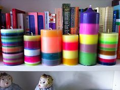 Striped candles