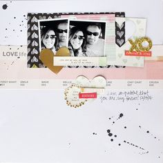 12 x 12 SCRAPBOOK LAYOUT ~ Love how the embellishments & photos are at the top of the page with the journaling.