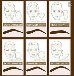How to shape your eyebrows for your shape of your face? - N / How to shape your eyebrows for your shape of your face? Eyebrow Makeup Tips, Permanent Makeup Eyebrows, Eye Brows, Eyeliner, Makeup Eyes, Makeup Wings, Hair Makeup, Diamond Face Shape, Eyebrow Tutorial