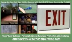 RiccaPlanet Defense Exit Sign Hidden Camera with Built-In DVR. Great for Home and Office. www.riccaplanetdefense.com