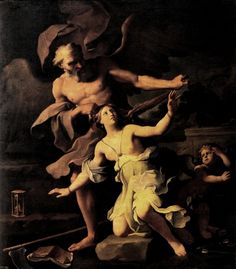 Giovanni Domenico Cerrini (1609 - 1681) - Time attacking Beauty